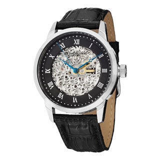Stuhrling Original Men's Magnifique Automatic Skeleton Leather Strap Watch