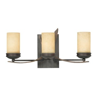 Varaluz Aizen 3-light Hammered Ore and Aspen Bronze Vanity Fixture