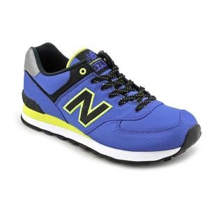 New Balance Men's 'ML574' Blue/Yellow Synthetic Casual Shoes