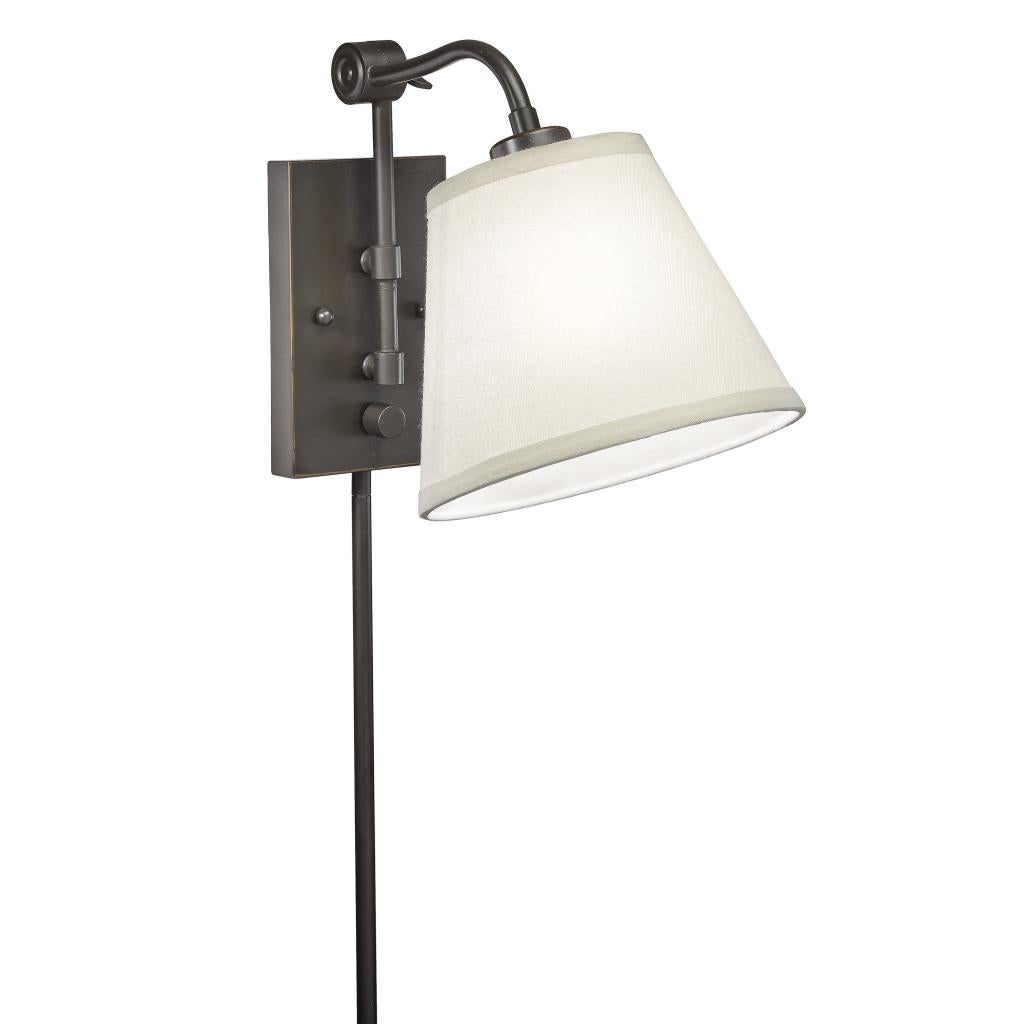 Wall Sconces With Plug In Cords : Swing Arm 1-light Plug-in Bronze Wall Lamp - Overstock Shopping - Top Rated Sconces & Vanities