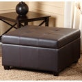 Abbyson Living Sullivan Leather Storage Ottoman