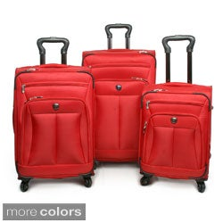 Pacific Coast Brentwood 3-piece Ballistic Nylon Spinner Luggage Set
