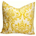 Traditions Large Scale Damask 20-Inch Square Throw Pillow Cover