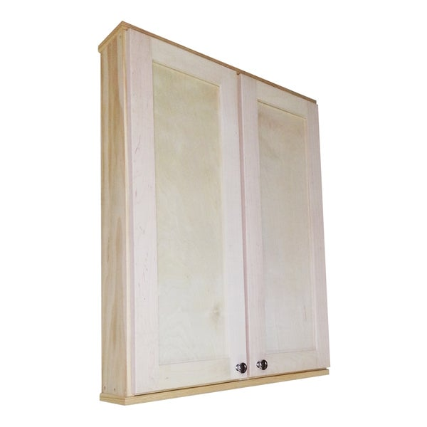 Shaker series 36 inch double door wall cabinet 15559711 for Kitchen cabinets 36 inch