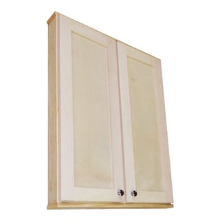 Shaker Series 24-inch Double Door On the Wall 3.5-inch Deep Cabinet