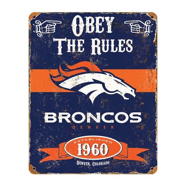 Denver Broncos Vintage Sign