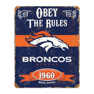 Denver Broncos Vintage Sign