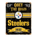 Pittsburgh Steelers Vintage Sign