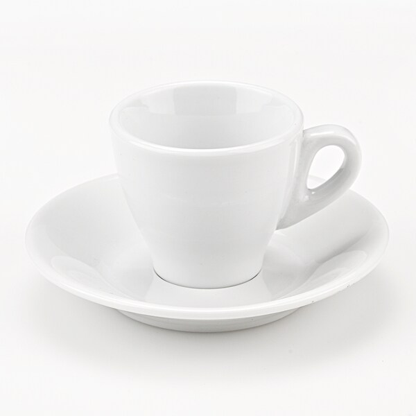 Set of 6 Porcelain Espresso Cups in White, by Lorren Home Trends 11517359