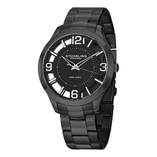 Stuhrling Original Men's Winchester Court Swiss Quartz Stainless Steel Bracelet Watch
