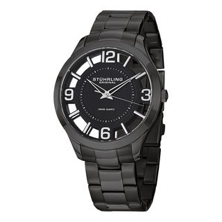 Stuhrling Original Men's Winchester Court Swiss Quartz Stainless Steel Bracelet Watch