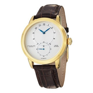 Stuhrling Original Men's Prominence Automatic Leather Strap Watch