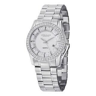 Stuhrling Original Women's Calliope Quartz Crystal Stainless Steel Bracelet Watch
