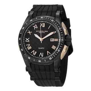 Stuhrling Original Men's Tachymere Quartz Rubber Strap Watch