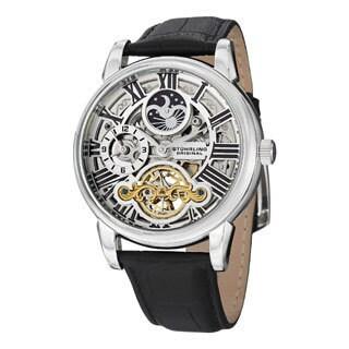 Stuhrling Original Men's Mistral Automatic Skeleton Leather Strap Watch