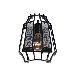 Varaluz Go-Go 1-light Black Sconce