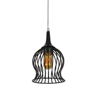 Varaluz Encaged 1-light Black Mini Pendant