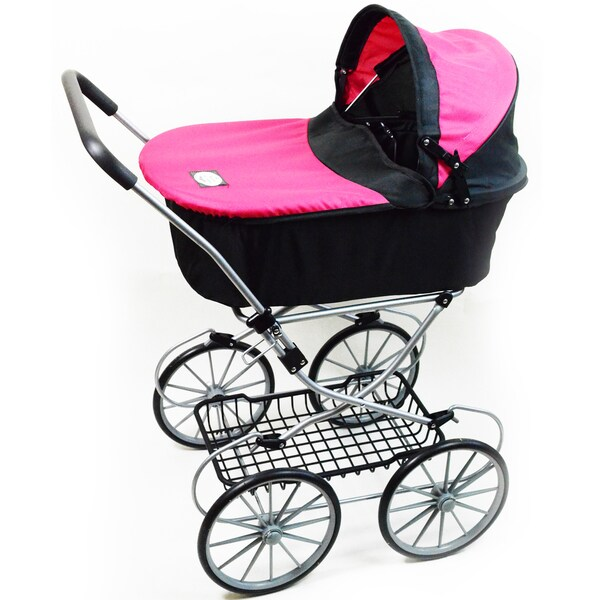 The New York Doll Collection Classy Doll Bassinet Stroller