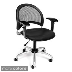 Moon Series Vinyl Swivel Task Chair 336-VAM