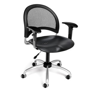 Moon Series Plastic Task Arm Chair