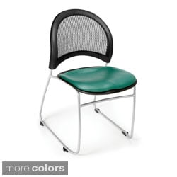 OFM Moon Series Vinyl Stacking Chair (Pack of 4)