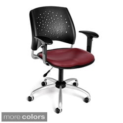 OFM Star Series Vinyl Task Chair with Arms
