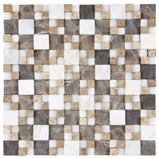 SomerTile Griselda Gaodi Sand Natural Stone Mosaic Tile (Pack of 10)