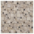 SomerTile Griselda Gaodi Emperador Natural Stone Mosaic (Pack of 10)