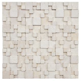 SomerTile 12x12-inch Griselda Gaodi Kimpi Natural Stone Mosaic Wall Tile (Case of 10)