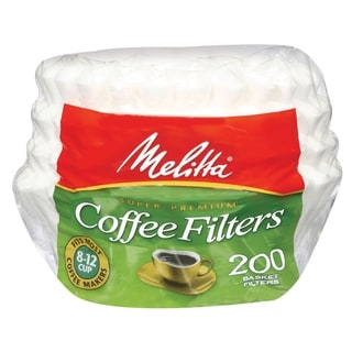 Melitta 629524 Paper White 8-12 Cup Basket Coffee Filters- 600 Count