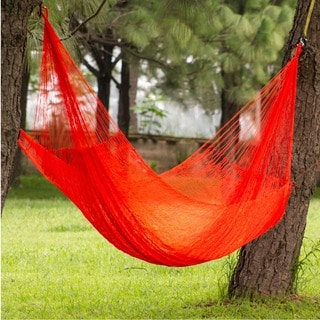 Handcrafted Nylon 'Maya Sun' Hammock (Double) (Mexico)
