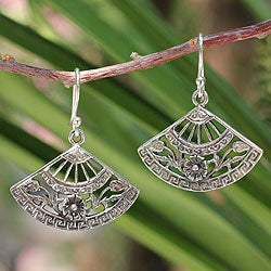 Sterling Silver 'Chiang Mai Breeze' Earrings (Thailand)