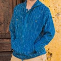 Men's Cotton 'Blue Moon' Hoodie Pullover (Guatemala)