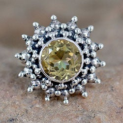 Sterling Silver 'Star' Citrine Ring (India)