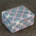 Handcrafted Soapstone 'Floral Patchwork' Decorative Box (India)