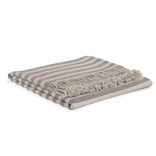 Slate Striped Rayon from Bamboo Throw