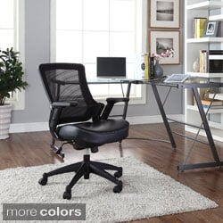 Veer Office Chair with Vinyl Seat in Black