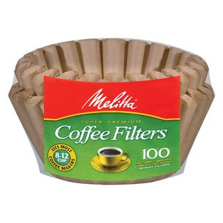 Melitta 629092 Natural Brown 8-12 Cup Paper Basket Coffee Filters- 400 Count