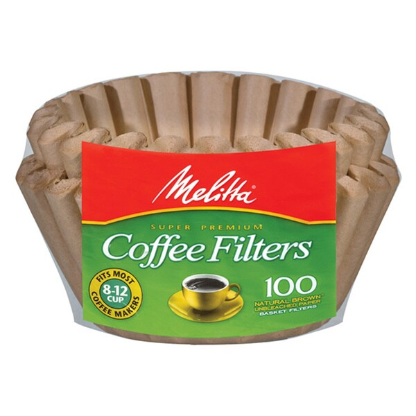 Melitta 629092 Natural Brown 8-12 Cup Paper Basket Coffee Filters- 400 Count 11518132