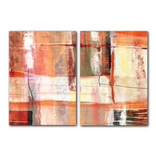 Alexis Bueno 'Abstract Spa' 2-piece Canvas Wall Art Set