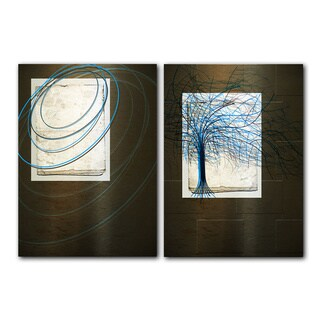 Alexis Bueno 'Abstract Spa' Canvas Art (Set of 2)