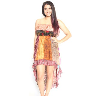 Silk Hi-Low Tube Top Dress (Nepal)