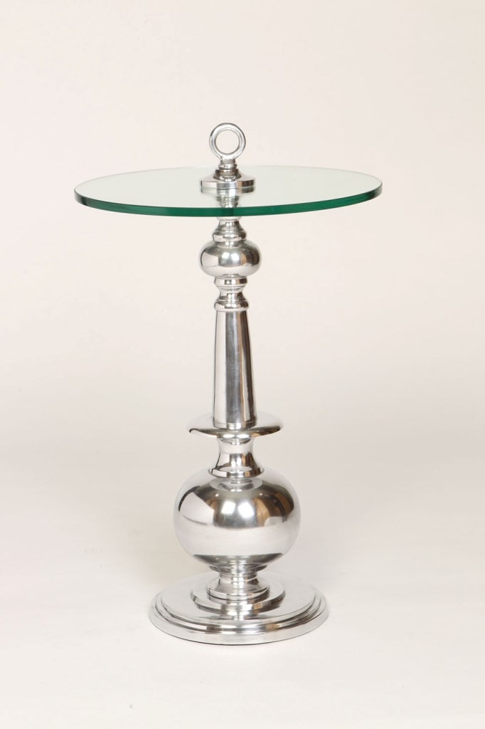 Glass Top Accent Table