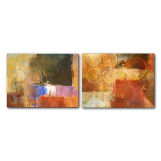Alexis Bueno 'Abstract Spa' 2-piece Canvas Art Set