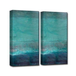 Alexis Bueno 'Abstract Spa' 2-piece Wall Art