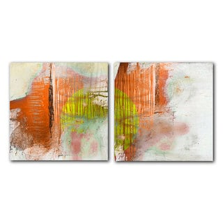 39 hand painted abstract 103 39 gallery wrapped canvas art set for Abstract salon of the arts