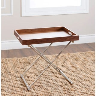 Abbyson Living Hanna Walnut End Table