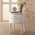 Neo Oval Nightstand In White Color