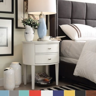 Neo Oval Cherry Brown Nightstand