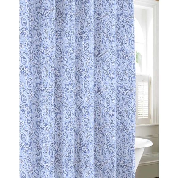 Tommy Hilfiger Tuckers Island Cotton Shower Curtain